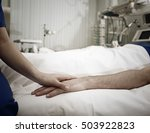 comforting of critically ill... | Shutterstock . vector #503922823