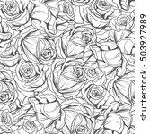 seamless monochrome pattern... | Shutterstock .eps vector #503927989