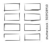 black grunge frames | Shutterstock .eps vector #503928910