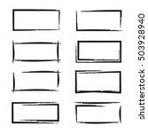 black grunge frames | Shutterstock .eps vector #503928940