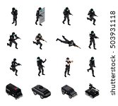 swat special weapons and... | Shutterstock .eps vector #503931118