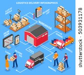 logistics and delivery... | Shutterstock .eps vector #503931178