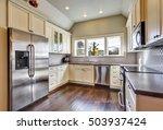 soft beige kitchen cabinets  ... | Shutterstock . vector #503937424