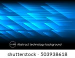 abstract vector technology... | Shutterstock .eps vector #503938618