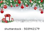 gray christmas card with with... | Shutterstock .eps vector #503942179
