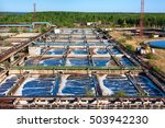 a lot of basins for sewerage... | Shutterstock . vector #503942230