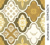 seamless patchwork pattern from ... | Shutterstock .eps vector #503942674