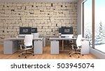 office interior. 3d illustration | Shutterstock . vector #503945074
