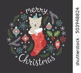 christmas illustration ... | Shutterstock .eps vector #503948824