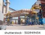 ductwork ventilation at steel...   Shutterstock . vector #503949454