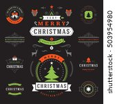 christmas labels and badges... | Shutterstock .eps vector #503954980