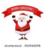 christmas santa claus greeting... | Shutterstock .eps vector #503960098