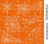vector illustration halloween... | Shutterstock .eps vector #503960314