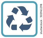 recycle cyan and blue vector... | Shutterstock .eps vector #503961298