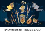 knight tournament medieval... | Shutterstock .eps vector #503961730