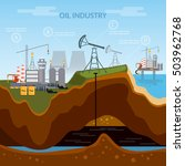 oil industry infographics ... | Shutterstock .eps vector #503962768