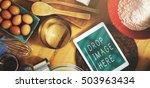 bakery baking cook eggs pastry... | Shutterstock . vector #503963434