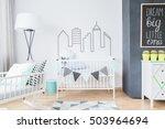 shot of a bright newborn's room ...   Shutterstock . vector #503964694