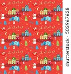 christmas seamless pattern with ... | Shutterstock .eps vector #503967628