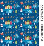 christmas seamless pattern with ... | Shutterstock .eps vector #503967670