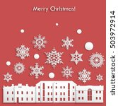 template for christmas postcard ... | Shutterstock .eps vector #503972914