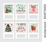 vector big set of new year and... | Shutterstock .eps vector #503973403