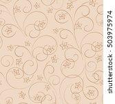 light beige floral background   ... | Shutterstock . vector #503975974