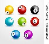 bingo lottery balls set numbers ... | Shutterstock .eps vector #503977024