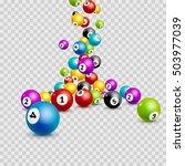 bingo lottery balls numbers... | Shutterstock .eps vector #503977039