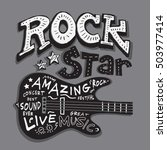 rock star music typography  t... | Shutterstock .eps vector #503977414