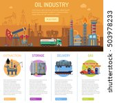 oil industry infographics with... | Shutterstock .eps vector #503978233