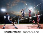 professional volleyball players ... | Shutterstock . vector #503978470