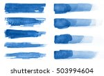 watercolor. blue abstract... | Shutterstock . vector #503994604