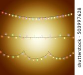 christmas and party lights... | Shutterstock .eps vector #503997628
