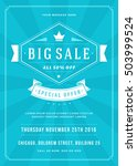 sale flyer or poster design... | Shutterstock .eps vector #503999524