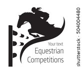 Stock vector equestrian competitions vector illustration of horse logo 504004480