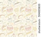 hand drawn vector seamless fast ... | Shutterstock .eps vector #504005833