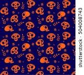 day of the dead skulls seamless ... | Shutterstock .eps vector #504008743