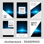 abstract vector layout... | Shutterstock .eps vector #504009043