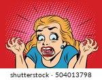emoji retro devil horror girl... | Shutterstock . vector #504013798
