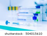 syringe  medical injection and... | Shutterstock . vector #504015610
