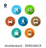 transport color icons. walk man ... | Shutterstock .eps vector #504018619