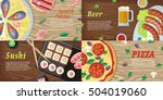 national dishes and drinks web... | Shutterstock .eps vector #504019060