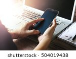 business on the desk with a... | Shutterstock . vector #504019438