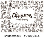 big set of christmas design... | Shutterstock . vector #504019516