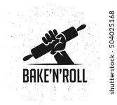 bake and roll kitchen related... | Shutterstock .eps vector #504025168