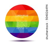 polygoral round rainbow gay... | Shutterstock .eps vector #504026494