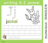 illustrator of writing a z... | Shutterstock .eps vector #504031378