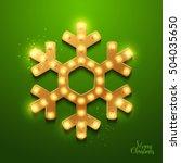 christmas background. retro... | Shutterstock .eps vector #504035650