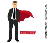 superman business. a man in a... | Shutterstock .eps vector #504035926